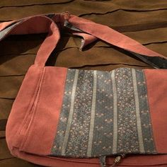 Maroon Messenger Bag with Pockets, Large Denim Tote with Adjustable Strap, Handmade Upcycled Jeans Purse, Ecofriendly Recycled Fabric Recycled Denim, Recycled Fabric, Eco Friendly Bags, Fabric Gift Bags, Thing 1, Large Purses, Fabric Remnants, Bag Making, Fashion Bags