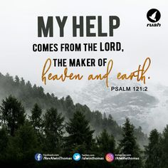 Psalm 121:2 (NIV) #dailybreath #ruah #ruahchurch #promiseverse #promiseoftheday #help #comes #lord #heaven #earth