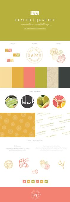 Brand Launch: Health Quartet | brand style guide | brand board | brand build out…