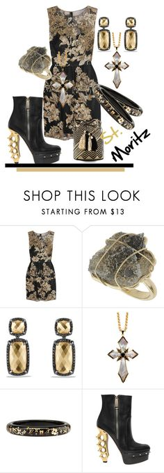 """StMoritz"" by rellenj ❤ liked on Polyvore featuring Notte by Marchesa, Miss Selfridge, David Yurman, Matthew Campbell Laurenza, Dsquared2, Guanábana, women's clothing, women, female and woman"