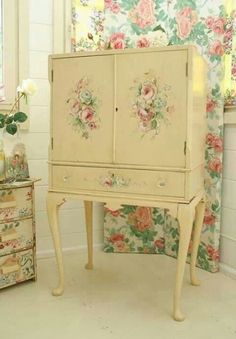 Decoupage would like this a little bigger to house a TV,DVR & DVD player