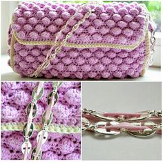 Finished my Missoni inspired bobblestitch crochet bag. Used leftover yarn and vintage 70's necklaces