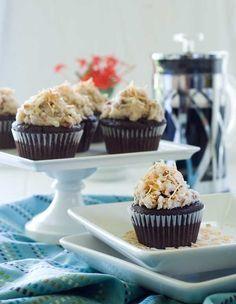 german chocolate cupcakes by Krinkles