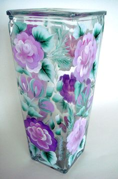 1000 images about Hand Painted Wine Glasses and more t ideas on Etsy Roses vases
