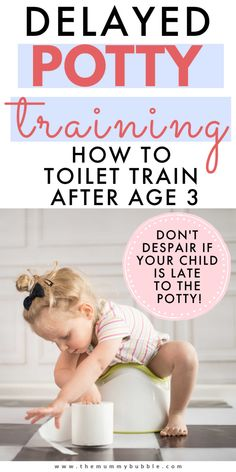 Is your child over age 3 and still not showing signs of being ready to potty train? Don't panic! These are the tips that worked for me when I toilet trained by 3.5year old girl. #pottytraining Boy Potty Training Tips, Toilet Training Age, Potty Training Regression, Toddler Potty Training, Age 3, Don't Panic, Parenting Tips, Parenting Toddlers, Toddler Activities