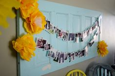 What a great idea to display pictures at any kind of party!