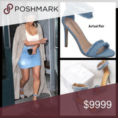 COMING SOON💕 Denim Heels Coming soon! The perfect Spring and Summer heel! A celeb fav and so cute! More details to follow. $52-PRE-ORDER AND SAVE 10%‼️ Shoes Heels
