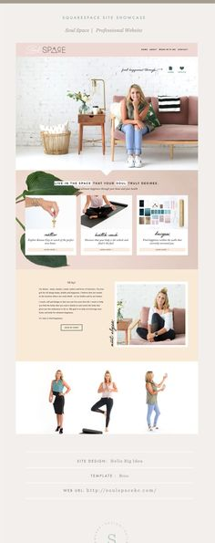 Web Design Site Showcase: Soul Space — Squarespace Design Guild How Do I Get My Child to Be Polite? Design Websites, Web Design Trends, Site Web Design, Web Design Quotes, Web Design Tips, Fashion Web Design, Creative Design, Layout Design, Design Logo