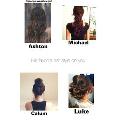 5sos preference: his favorite hair style  I made this myself so I hope you guys enjoy it