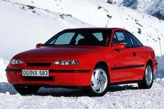 Opel Calibra foi desenhado em nome da aerodinâmica   Best Cars