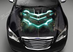 Hood Wrap Full Color Print Vinyl Decal Fit Any Car Dragon Vs - Graphics for car bonnets