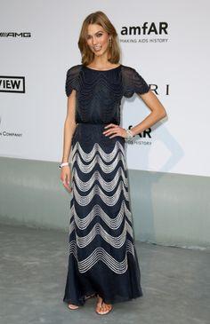Las modelos convierten la fiesta de amfAR en Cannes en su nueva pasarela