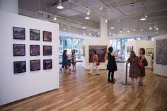"Installation at Robert Morris Gallery ""Landscape/Vision/Interpretation"" 12"" X 12"" Waterways & Big Baker Island.  Nina Weiss"