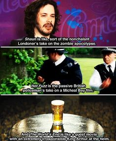 Edgar Wright describes his Blood and Ice Cream Trilogy