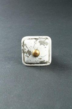 La Finesse / Úchytka White square Home Board, Bella Rose, Stud Earrings, Studs, Stud Earring