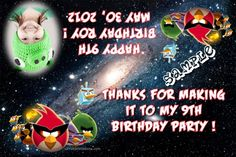 Angry Birds Space Favor Candy Bag Labels