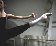 A Paris Opéra Ballet dancer shows off her assets