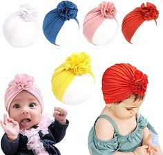 Infant-Toddler Great to Dress up Your Little One for The Holidays or for Everyday Wear Little Cuties Newborn Baby Girl 8 Assorted Pack Headwraps