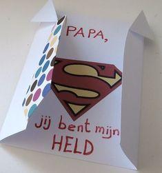 Supermankaart voor de vader die een echte held is!