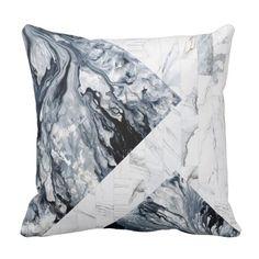 Snowdonia Marble Statement Throw Pillow