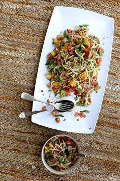 Summertime Noodles w/ Sweet Balsamic Dressing