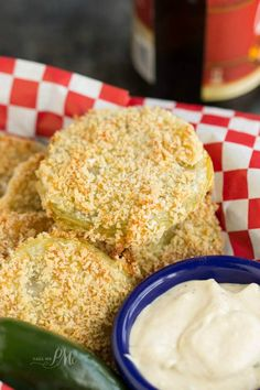 Panko Crusted Baked Fried Green Tomatoes with Lulus Wow Sauce recipe - breaded with panko crumbs and served with the most luxurious, easy to make Wow Sauce