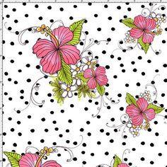 Lady Luau White Fabric Yard by Loralie by loraliedesigns on Etsy, $10.40