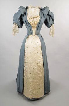 1890s leg of mutton dress evening - Google Search