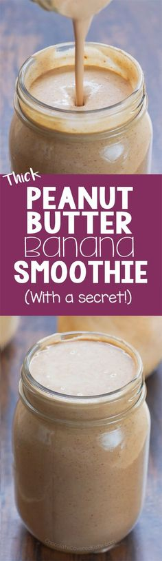 I make one of these every day for breakfast - it is the best peanut butter banana smoothie recipe I've found