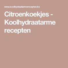 Citroenkoekjes - Koolhydraatarme recepten