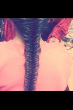 I did a fishtail braid :)