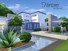 The Sims Resource: Horizons residential lot by Chemy • Sims 4 Downloads