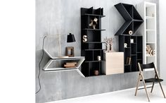 Modern living room furniture from BoConcept Cupboard Shelves, Bookcase Shelves, Storage Shelves, Shelving, Storage Ideas, Smart Storage, Cupboards, Cabinet, Boconcept