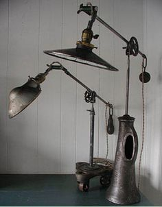 Found object lamps Repinned by www.silver-and-grey.com