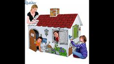 cardboard house Playhouses Cardboard Playhouse, Playhouses, Recycling, Toys, Holiday Decor, Children, Home Decor, Activity Toys, Young Children