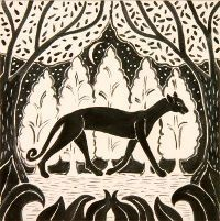 Image result for art deco cat