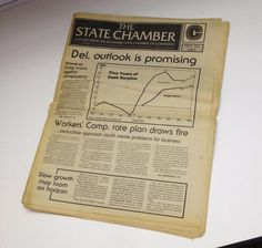 Vintage 1982 DELAWARE STATE CHAMBER COMMERCE Report News Del. Outlook Promising