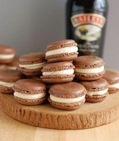 bailey's chocolate macarons