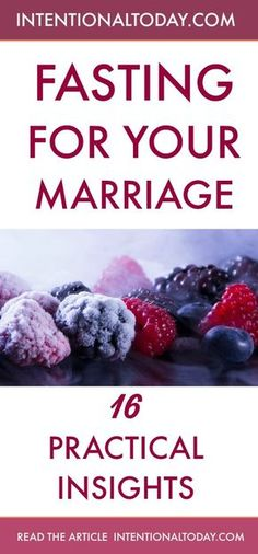 The benefits and practical how-to of fasting for your marriage