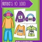 Make a Number Line - Numbers to 1000 - Winter Clothes Set Anzac Day, Place Values, Clothes Line, Outfit Sets, Winter Outfits, Promotion, Numbers, Construction, Teaching