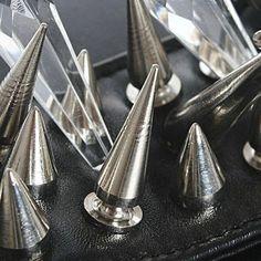 2015 Hot 100 шт./компл. 9.5 мм серебряный конуса шипы Screwback шпильки DIY ремесло прохладный заклепки панк купить на AliExpress