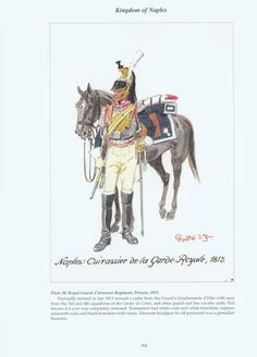 Kingdom of Naples: Plate Royal Guard: Cuirassier Regiment, Private, Kingdom Of Naples, Kingdom Of Italy, Empire, Italian Army, Royal Guard, French Army, Naples Italy, Napoleonic Wars, Military History
