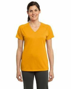 $25.51 awesome Sport-Tek Women's Performance V-Neck T-Shirt, Gold, Small