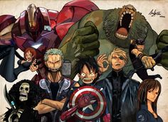One Piece Marvel Heroes