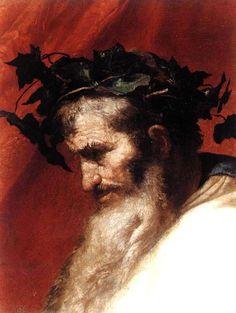 Triunfo de Baco. Cabeza de Dionisios.  José de Ribera, el Españoleto (1591-1652)