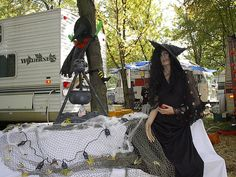 Halloween decorations at the RV park