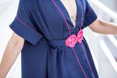 Smalt.Paris - Robes sur mesure - Robe de soirée - Robes créateur - Jolie ceinture en passementerie