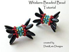 DatzKatz Whiskers Beaded Bead Design for $3.99 #Seed #Bead #Tutorials
