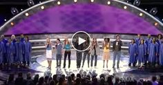 American Idol finalists sing 'Shout To The Lord,' making the audience rise up in glory.