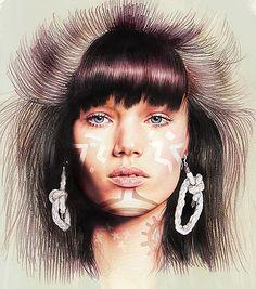 Minni Havas - Ilustração de Moda